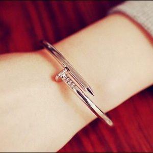 Jewelry - Silver Nail Cuff Bracelet